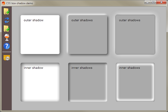 CSS shadows demo