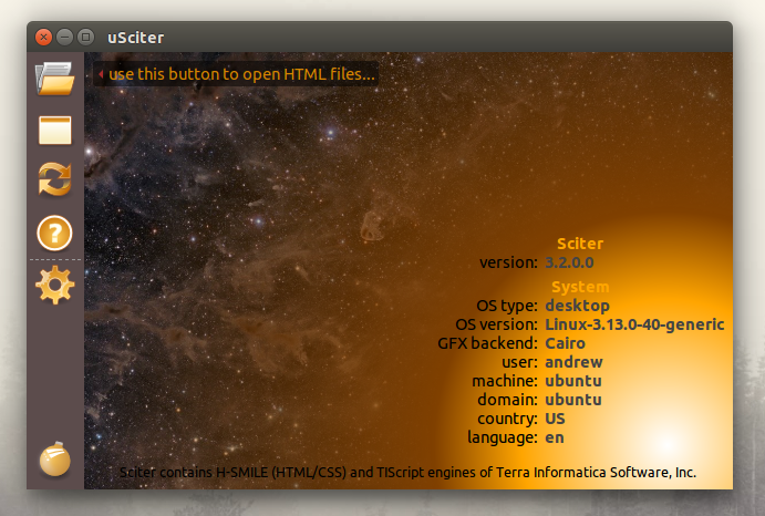 Sciter on Ubuntu Linux