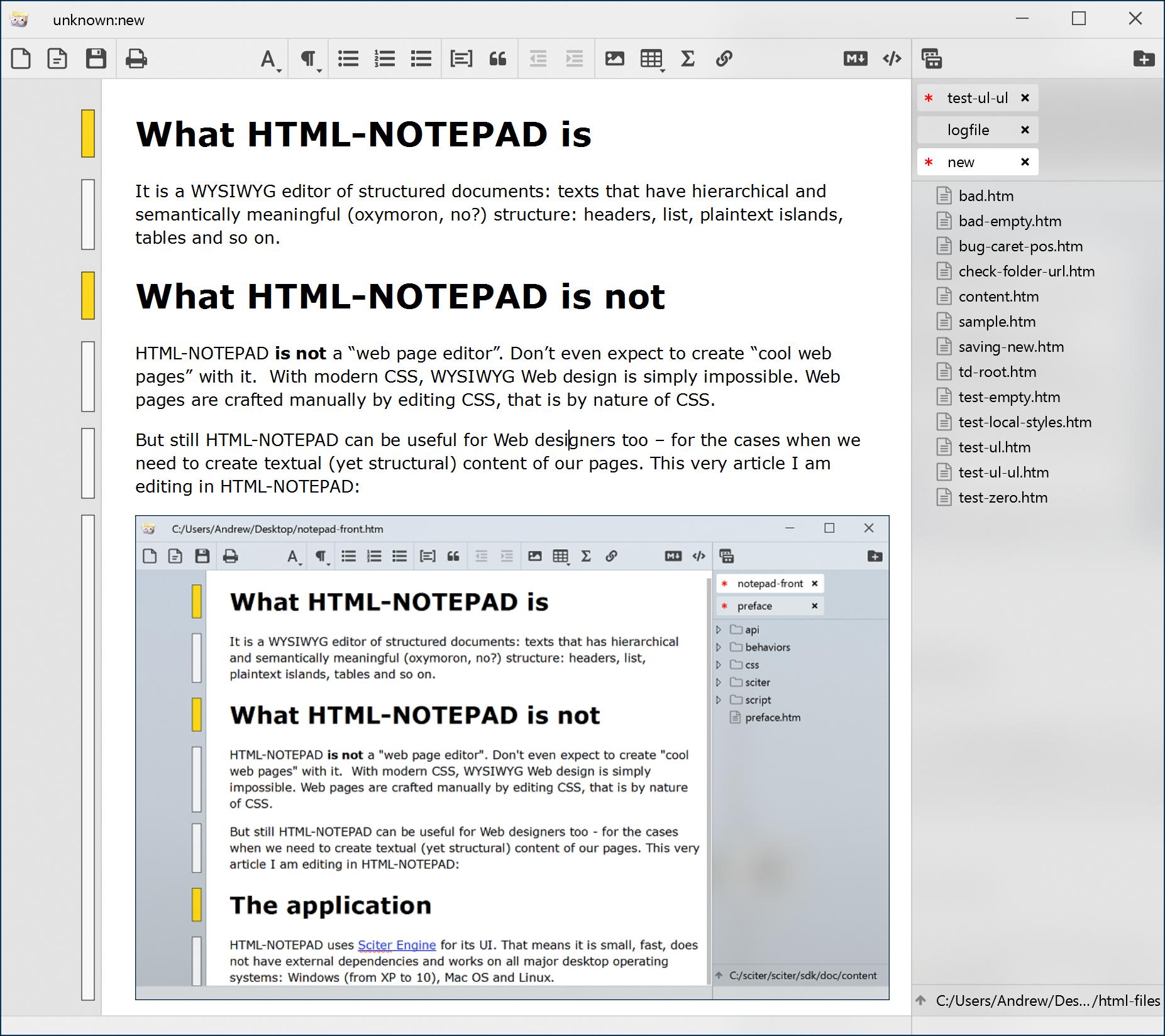 HTML-NOTEPAD